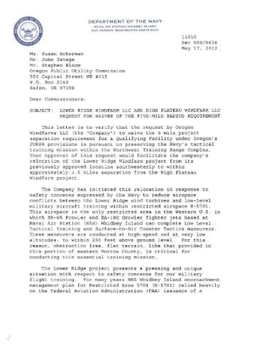 UM 1596, COMMENTS/RESPONSE, 5/17/2012 - State of Oregon