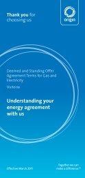 Understanding your energy agreement with us - Origin Energy