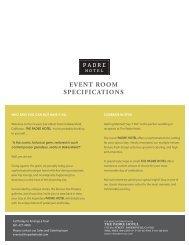Floorplans - The Padre Hotel