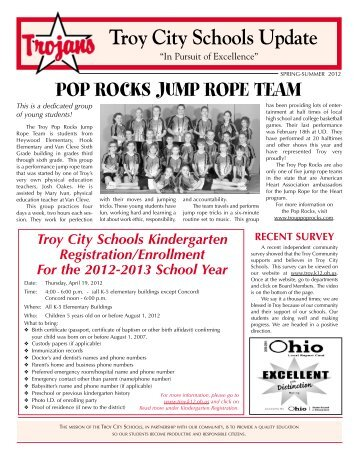School News Spring 2012 - Troy City Schools
