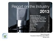 Download the Report on the Industry 2013 - Voices.com