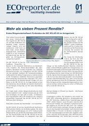 ECOreporter.de-Anlagecheck