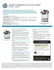 HP Laserjet Enterprise 500 MFP M525 Series - Hewlett Packard