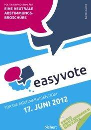 17. JUNI 2012 - Easyvote
