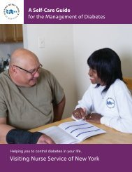 VNSNY Diabetes Self-Care Guide - Visiting Nurse Service of New ...