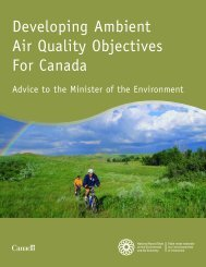 Developing Ambient Air Quality Objectives For Canada - NEIA
