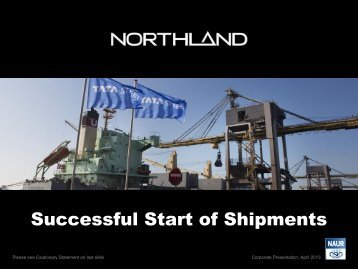 Corporate Presentation, April 2013 - Northland Resources