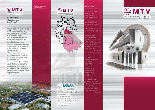MTV Flyer Deutsch - MTV CUTTING-EDGE GmbH & Co. KG