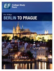 BERLIN TO PRAGUE - EF College Study Tours