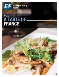 A TASTE OF FRANCE - EF College Study Tours