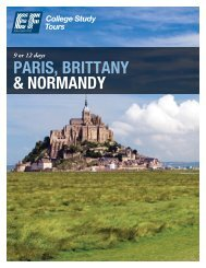 PARIS, BRITTANY & NORMANDY - EF College Study Tours
