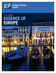 ESSENCE OF EUROPE - EF College Study Tours