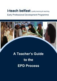 A Teachers Guide to the EPD Process - Belfast Education & Library ...