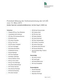 Protokoll der Vollversammlung 15.03.2013 - Landwirtschaftskammer ...