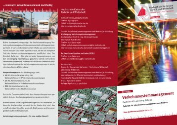 Verkehrssystemmanagement - Hochschule Karlsruhe – Technik und ...