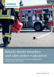 Stufenweise Evakuierung an der Anlaufstelle steuern - Siemens