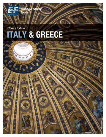 ITALY & GREECE - EF College Study Tours