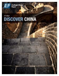 DISCOVER CHINA - EF College Study Tours