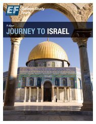 JOURNEY TO ISRAEL - EF College Study Tours