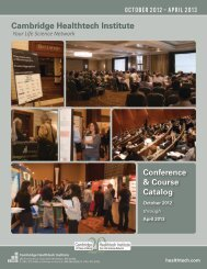 Cambridge Healthtech Institute Conference & Course Catalog