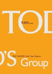 2007 IAS/IFRS Half Year Report - Tod's Spa