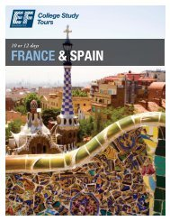 FRANCE & SPAIN - EF College Study Tours
