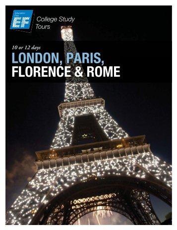 LONDON, PARIS, FLORENCE & ROME - EF College Study Tours