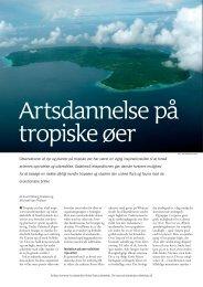 Artsdannelse på tropiske øer - Aktuel Naturvidenskab
