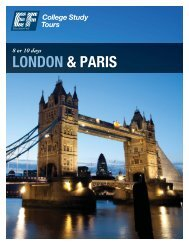 LONDON & PARIS - EF College Study Tours