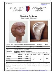 Classical Sculpture Beginners to Advanced
