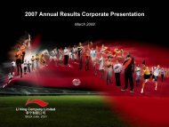 2007 Annual Results Corporate Presentation - Li Ning