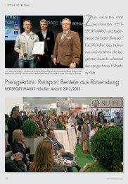 Preisgekrönt: Reitsport Bentele aus Ravensburg