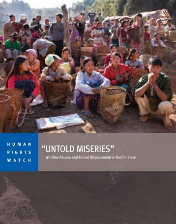 """""""UNTOLD MISERIES"""" - Human Rights Watch"""