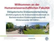 2 CP für - Humanwissenschaftliche Fakultät - Universität zu Köln