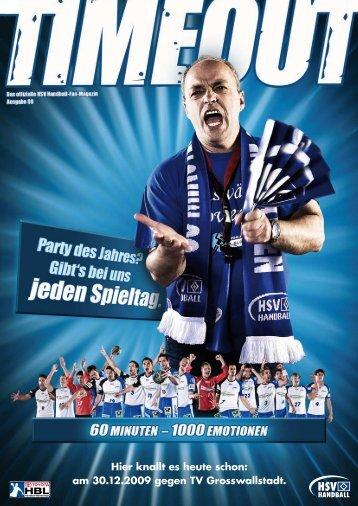 Hier knallt es heute schon: am 30.12.2009 gegen ... - HSV Handball