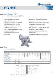 Dimensions SG 120 - Dunkermotoren