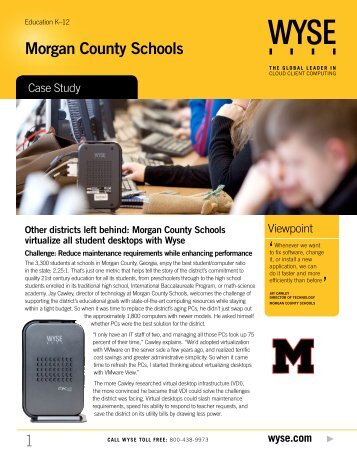 Morgan County Schools - Wyse Technology