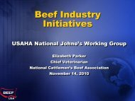 Beef Industry Initiatives - United States Animal Health Association