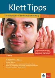 Sprachenservice Erwachsenenbildung Nr. 46 · II ... - Ernst Klett Verlag