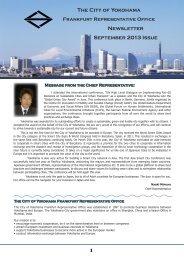 September 2013 Newsletter - The City of Yokohama Frankfurt ...