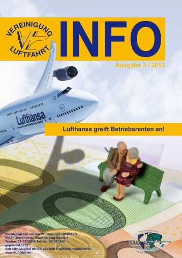 Ausgabe VL Info 3/2013 - Vereinigung Luftfahrt eV