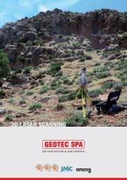brochure laser scanner copertina ENGLISH - Geotec SpA