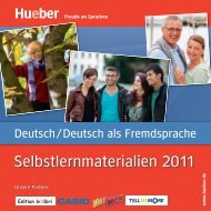 Selbstlernmaterialien 2011 - Hueber