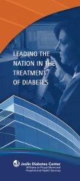 Joslin Diabetes Center Affiliate Brochure - Floyd Memorial Hospital
