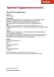 Spielend Fragepronomen lernen - Hueber