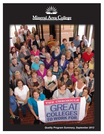 Quality Program Summary, September 2012 - Mineral Area College