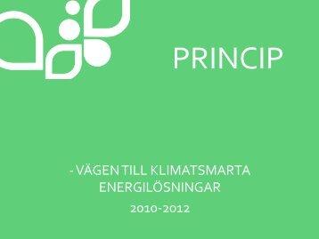 vägen till klimatsmarta energilösningar 2010-2012 - Energi PRINCIPS