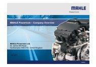 MAHLE Powertrain – Company Overview - Mahle Powertrain Ltd