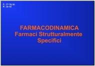 FARMACODINAMICA Farmaci Strutturalmente Specifici