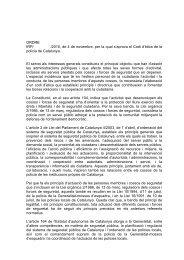 Text íntegre del Codi d'ètica de la Policia de Catalunya - Premsa ...